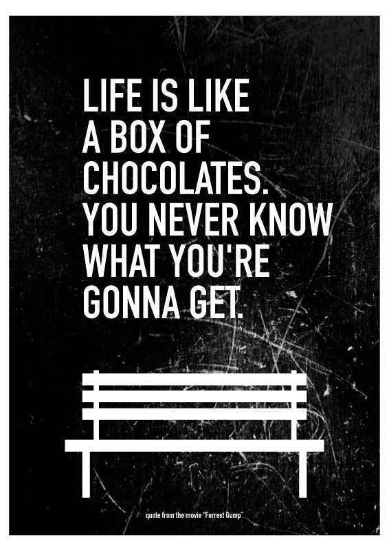 Forrest Gump Saying Life Is Like A Box Of Chocolates