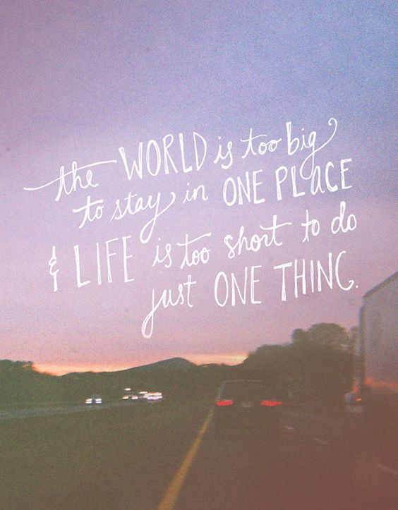 Big World Travel Quotes