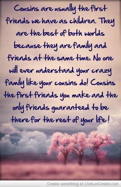Best 27 Cousin Quotes | Quotes and Humor Quotes About Cousin Sisters Love