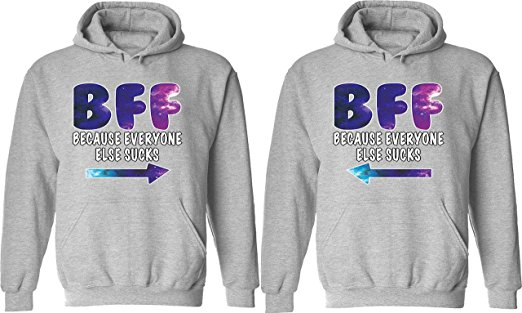 BFF Matching Couple Hoodies